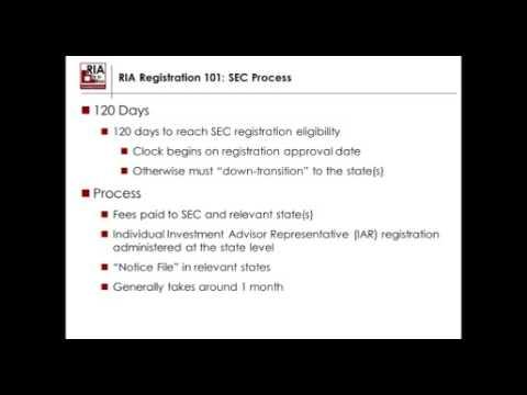 Registered Investment Advisor (RIA) Registration 101
