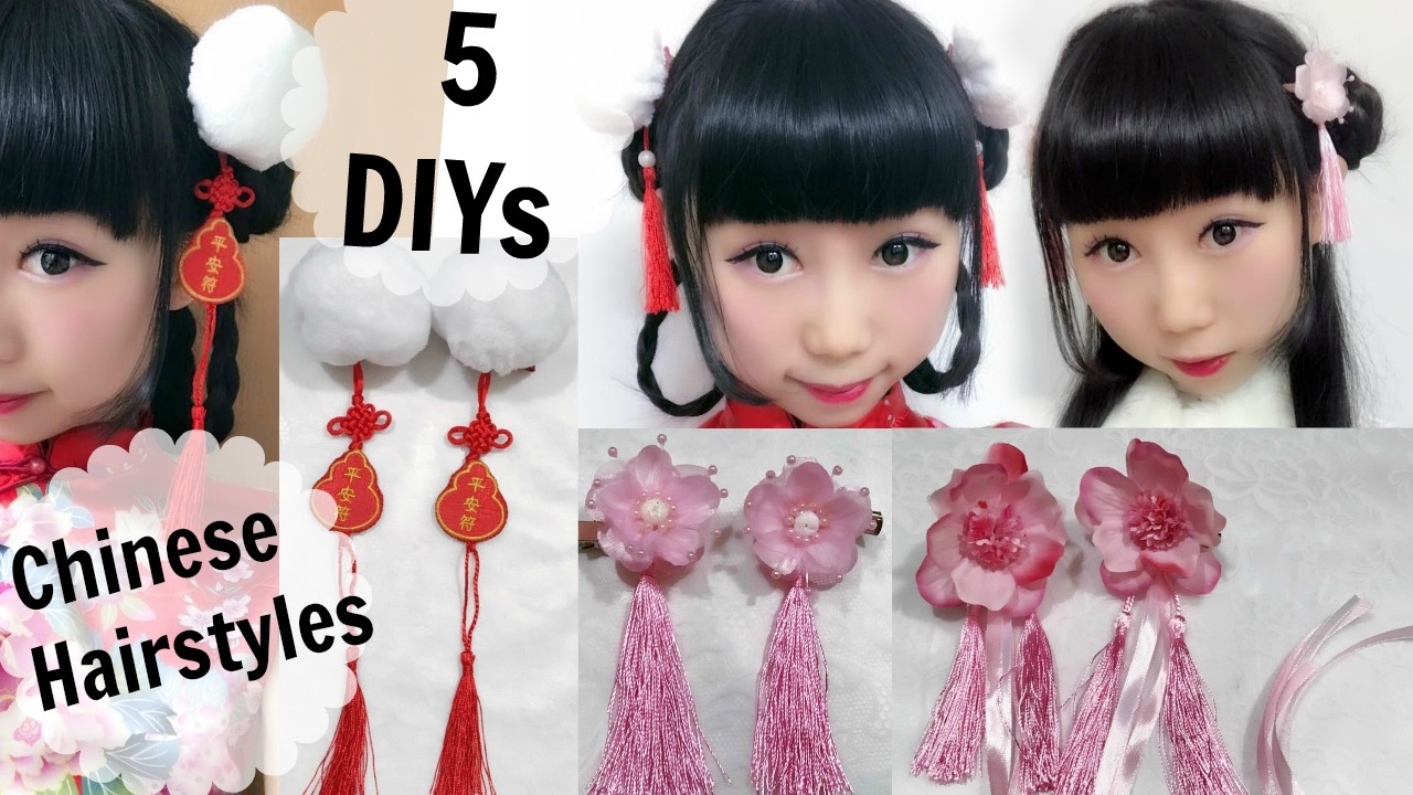 5 diy ancient chinese inspired hair accessories and hairstyles | hanfu inspired fashion