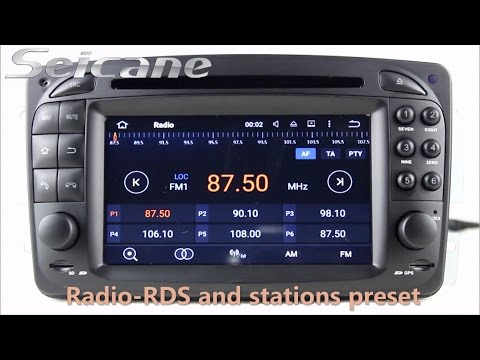 Full download in dash car dvd player gps radio for for Mercedes benz navigation dvd download