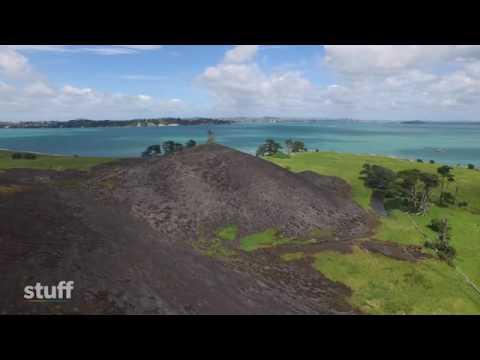 Drone footage of Browns Island scrub fire