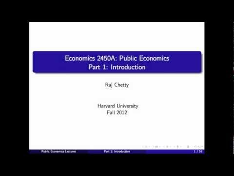 Topic 1: Introduction | Economics 2450A: Public Economics