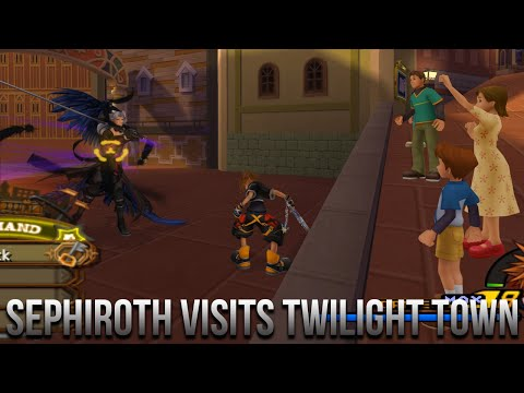 Sephiroth Visits Twilight Town - Kingdom Hearts 2 Hacked Fight