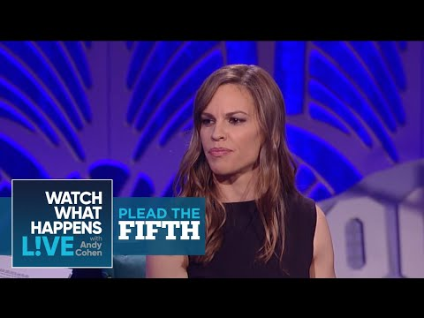 Has Hilary Swank Dipped In The Lady Pond?  Plead The Fifth  WWHL