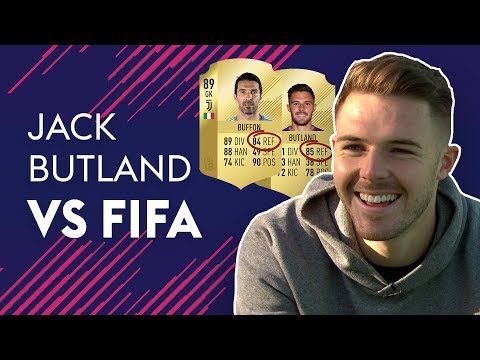 BUTLAND REACTS TO HAVING BETTER REFLEXES THAN BUFFON!   JACK BUTLAND VS FIFA 🔥🔥🔥