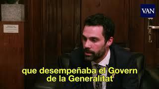 Entrevista Roger Torrent, presidente del Parlament de Catalunya