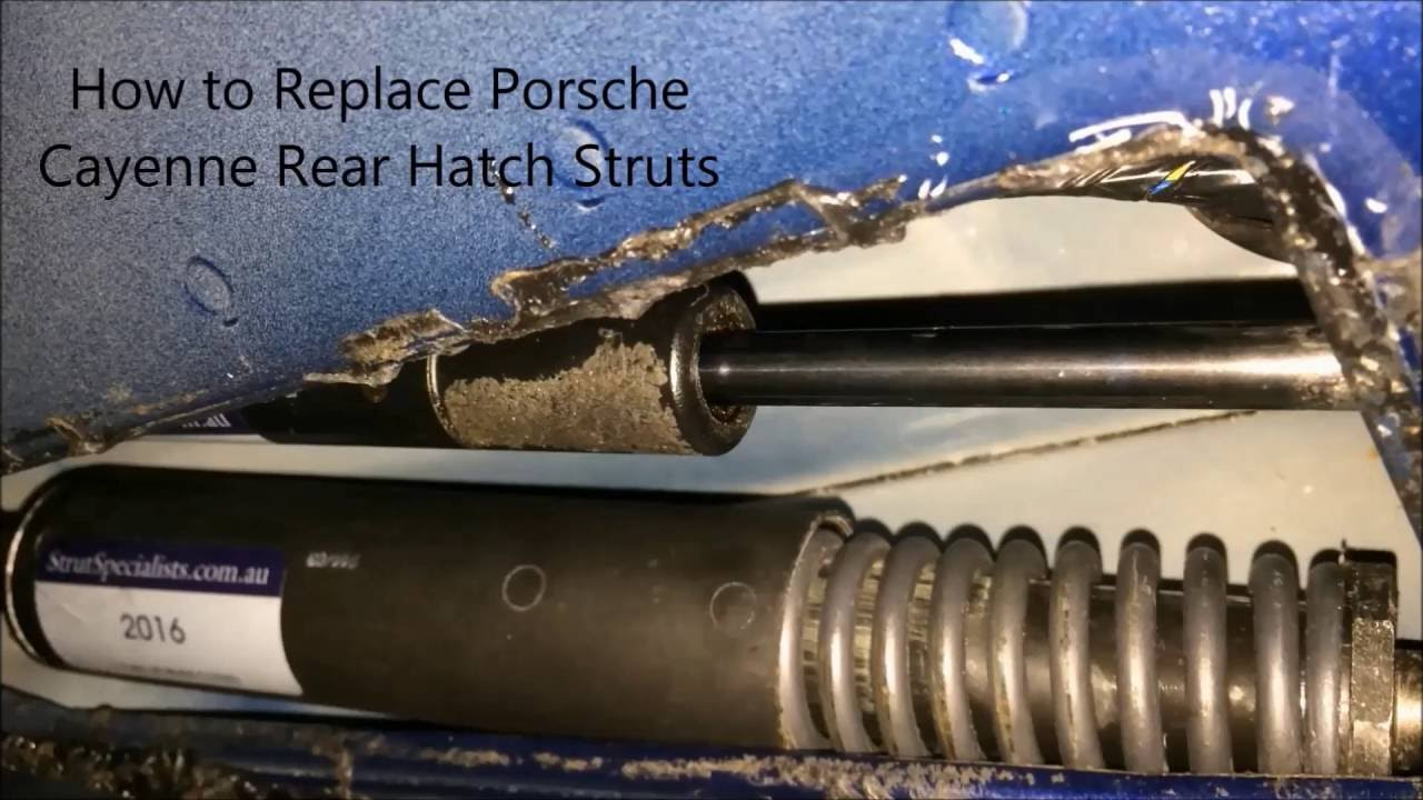 When To Replace Shocks And Struts >> How to Replace Porsche Cayenne Rear Hatch Struts - YouTube