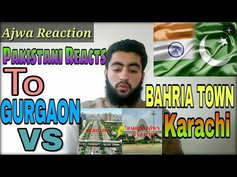 Pakistani Reacts To | Gurgaon City | VS Bahria Town Karachi | In Hindi