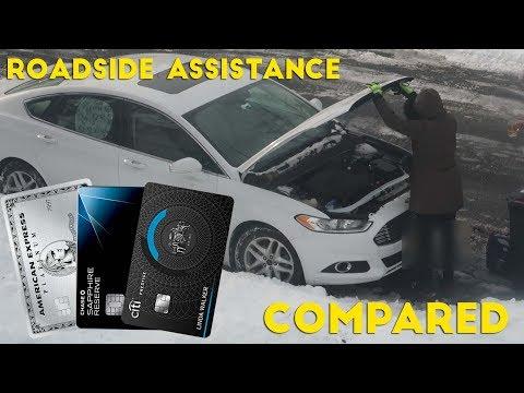 Premium Credit Card ROADSIDE ASSISTANCE Compared