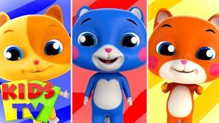 Three Little Kittens   Nursery Rhymes & Kids Songs   Bob The Train Cartoon   Kids Tv