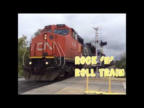 Rock 'N' Roll Train (AC/DC) Railfanning Music Video