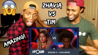 Zhavia vs Tim: The Most INTENSE Battle Of The Season - Do Not BLINK! | S1E5 | The Four (REACTION)