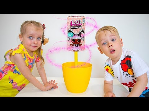 Gaby and Alex in Funny Story for kids about Toys