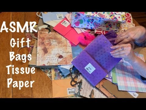 ASMR Request/Paper gift bags/rummage & sorting (No talking)