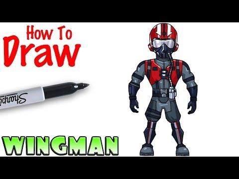 How To Draw Wingman Fortnite Youtube