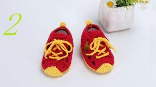 钩针编织婴儿鞋 宝宝活力运动鞋 2/2 thumbnail