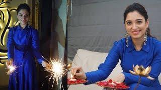 Tamannaah Bhatia Celebrate Diwali | Diwali 2017 Celebrations | Bollywood Events