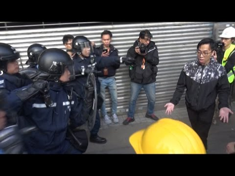 Hong Kong street clashes: man stood ground for his rights against police use of excessive force