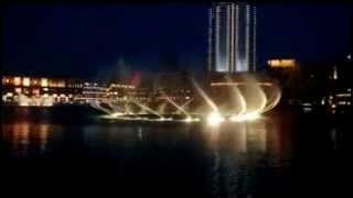 water dance   dubai burj ul arab   night time with music