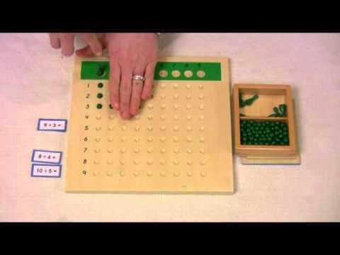 Montessori Math Lesson - Division Board