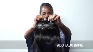 Work That Hair! DIY Topknot & Faux Bang w/ Kiyah Wright