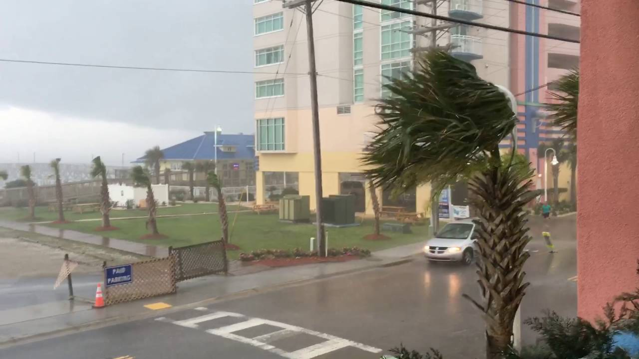 EXTREME WEATHER Rain, Wind, and a Man Falling on his ...