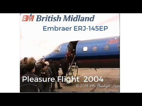 British Midland Embraer ERJ-145EP - Pleasure Flight  * Filmed in 2004 *