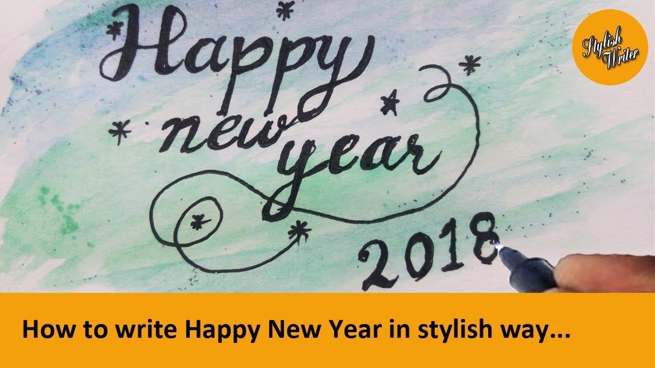 2019 year looks- Writing stylish happy new year