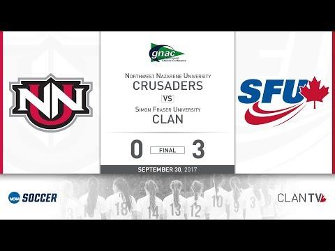 SFU Clan Women's Soccer vs. NNU - September 30, 2017