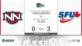 SFU Clan Women's Soccer vs. NNU - September 30, 2017 thumbnail