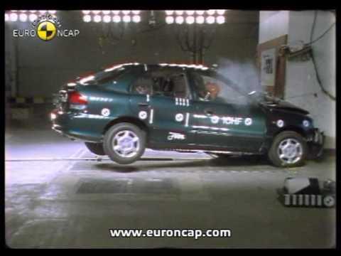 Фото к видео: Euro NCAP | Hyundai Accent | 1998 | Crash test