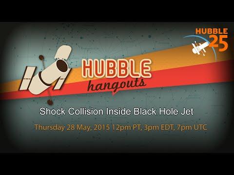 Shock Collision Inside Black Hole Jet - #HubbleHangout