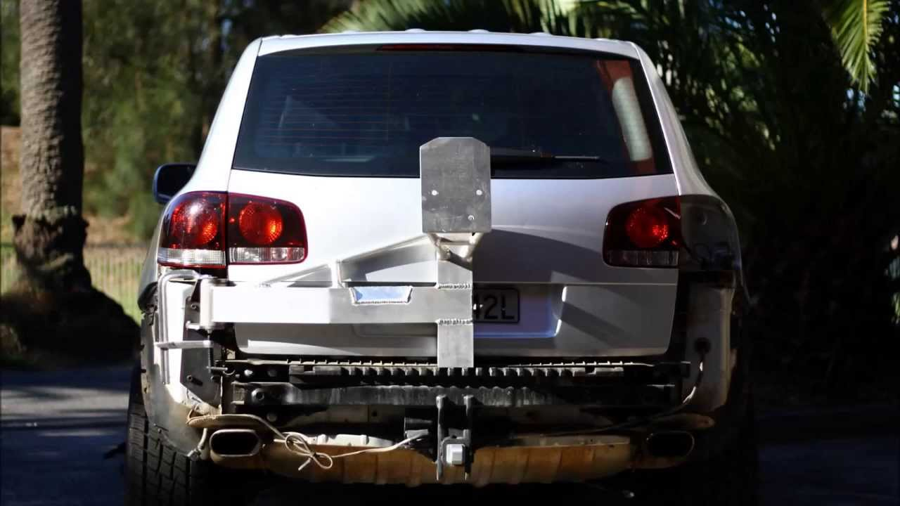 Touareg Swing Away Tyre Carrier Ram Test Youtube