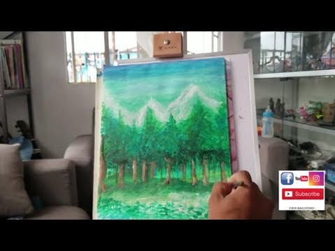 ACRYLIC PAINTING TUTORIAL /LANDSCAPE/FOREST