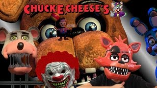 Five Nights at Freddy's at Chuck E Cheese Jayden plays ROBLOX Game CLOWN JUMP SCARE FNAF CEC