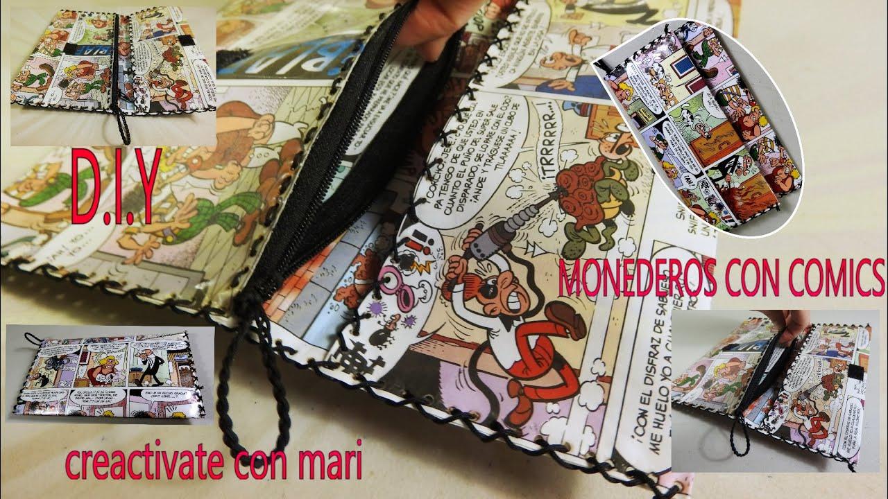 1ebb641c5 Como hacer monedero o billetera con hojas de cómics Diy - YouTube