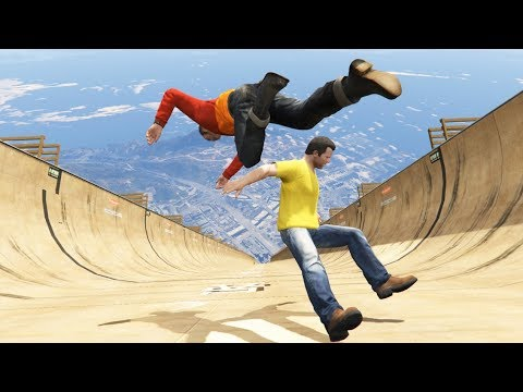 GTA 5 CRAZY Jumps/Falls Compilation #19 (GTA 5 Fails Funny Moments) thumbnail