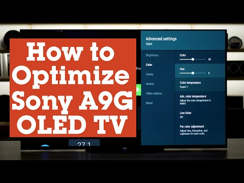 How To Optimize The Settings On Your Sony MASTER Series A9G OLED TV   Crutchfield