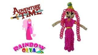 БУБЛЬГУМ - Время приключений из резинок на рогатке | Princess bubblegum Adventure time rainbow loom