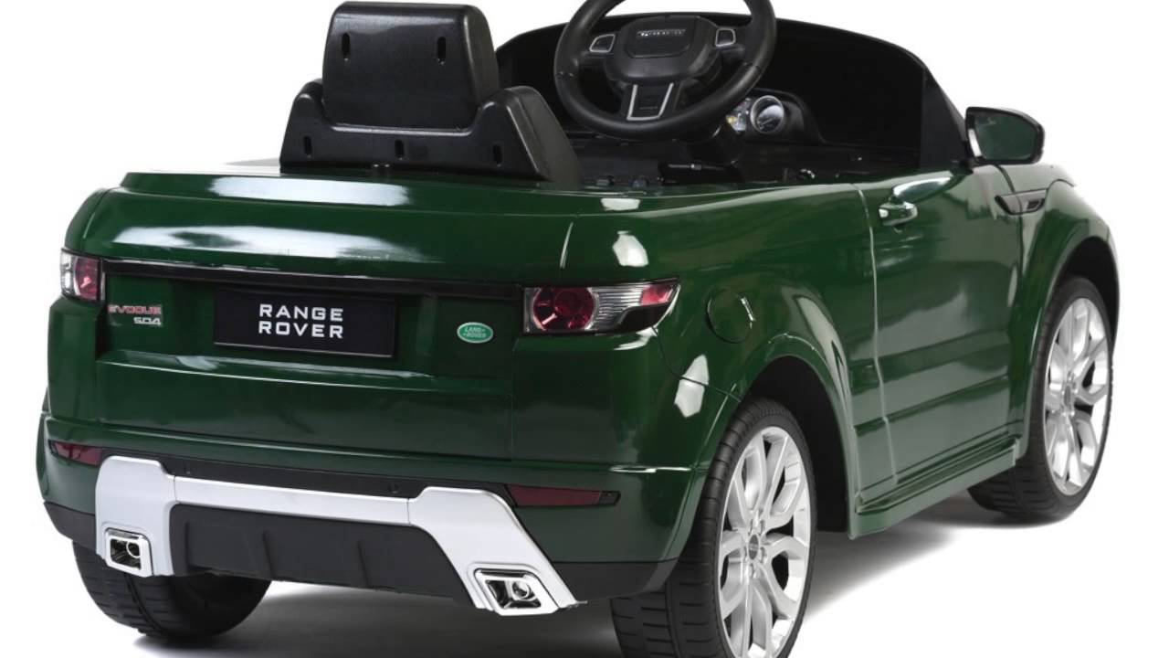 Licensed Range Rover Evoque Ride On Car Toy With Remote Control Mp3
