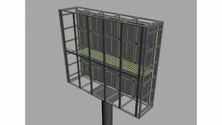 Схема уличного LED видео экрана Новороссийск(Рекламно-производственная компания