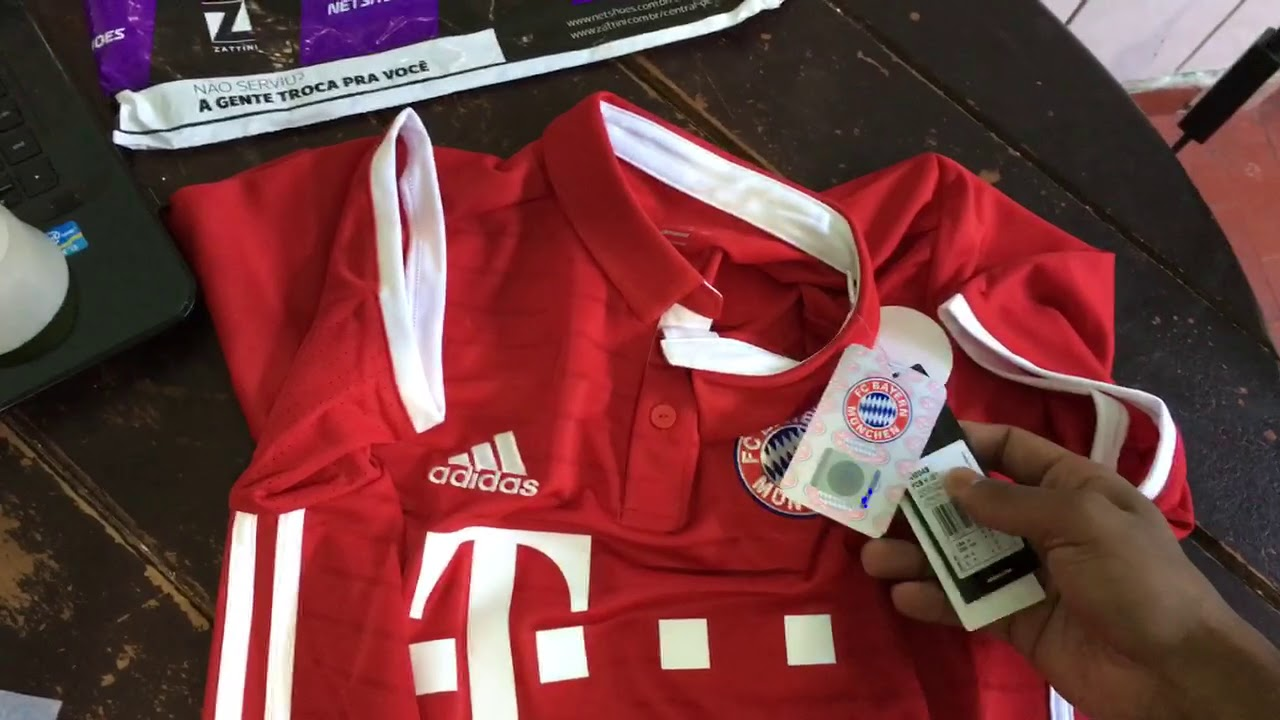 1aed48b5e9 Camisa Bayern de Munique Home 2016/2017 s/nº Torcedor - YouTube