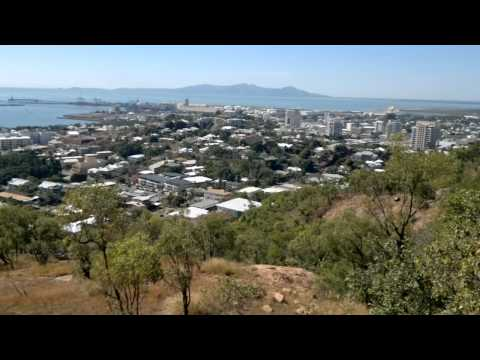 Townsville overlooking suburb of north ward  from castle hill