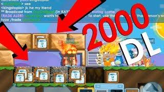 2000 DL YE WORLD SATMAK - Growtopia En Pahalıya Satılan Worldler