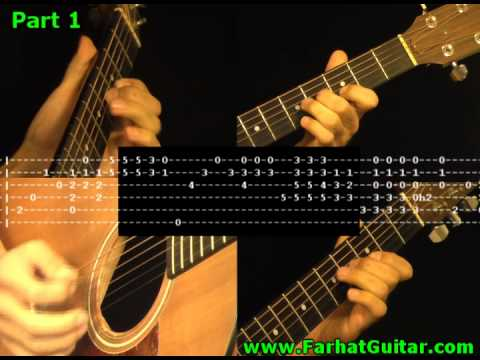 Angie Rolling Stone with TABS 1/10 Guitar Cover www.FarhatGuitar.com