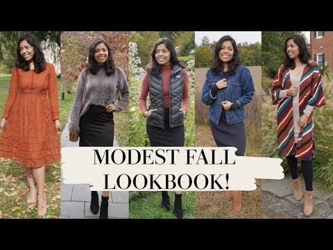 MODEST FALL LOOKBOOK!! 2019! 5 WAYS TO COVER UP BUT STILL LOOK CUTE!