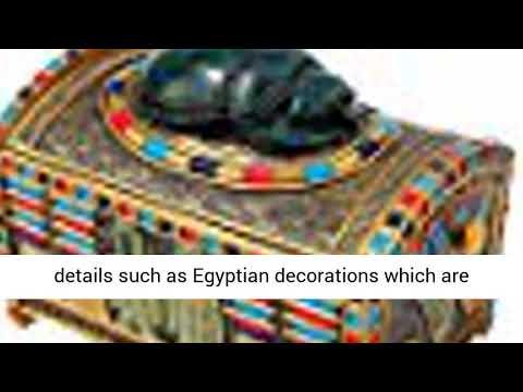 Design Toscano Egyptian Décor Trinket Box - Royal Egyptian Scarab Jewelry Box - Egyptian Statues