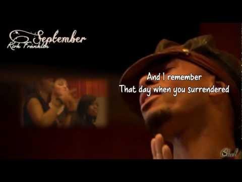 SEPTEMBER - Kirk Franklin (lyrics on screen)