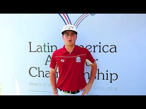 "Jorge ""Pichu"" García en el Latin America Amateur Championship 2018"