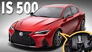 The V8 is BACK!  Introducing the 2022 Lexus IS 500 F Sport Performance