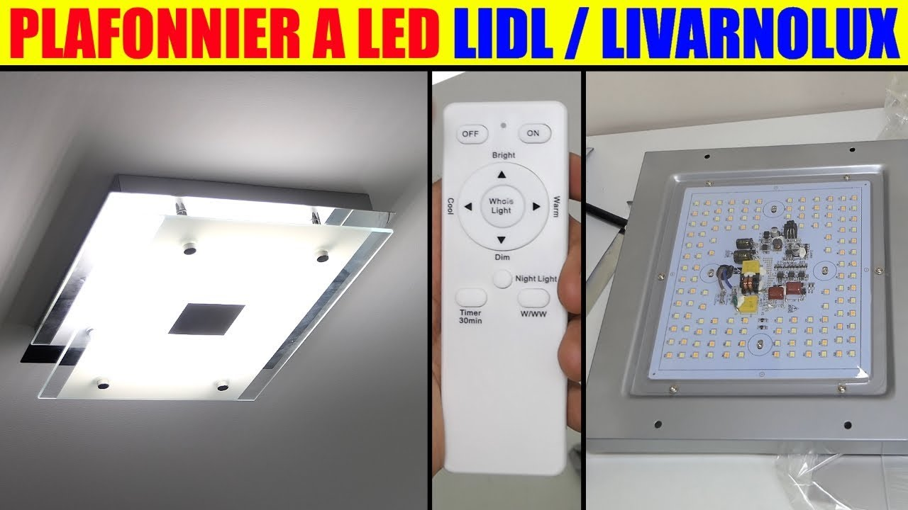 plafonnier led lidl livarnolux 20w presentation test led ceiling light led deckenleuchte youtube. Black Bedroom Furniture Sets. Home Design Ideas